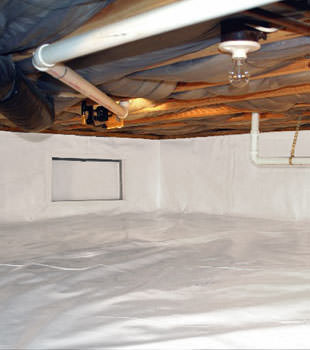 A complete crawl space repair system in Lake City