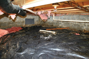 Crawl Space Repair Before in Tallahassee