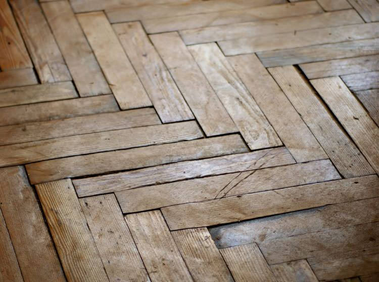 A Sanford Buckling Wood Floor
