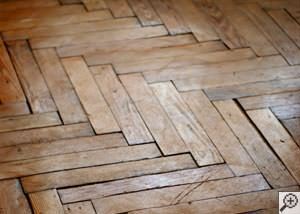 A Sanford buckling wood floor.