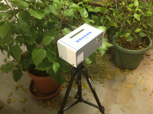 Continuous radon monitor in Tallahassee home