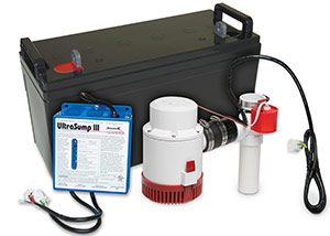 a battery backup sump pump system in Panama City Beach