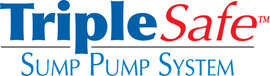 Sump pump system logo for our TripleSafe™, available in areas like