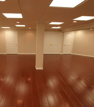 Rosewood faux wood basement flooring for finished basements in Tallahassee
