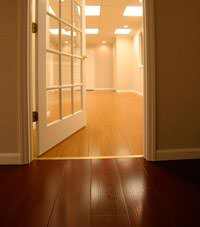 Basement Wood Flooring installed in Winter Springs, Florida