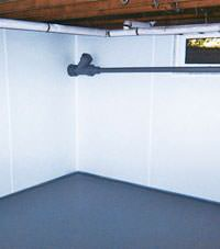 Plastic basement wall panels installed in a Winter Park, Florida home